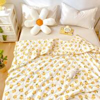 多喜爱双层纱空调被儿童全棉夏凉被纯棉夏季被芯薄被子悠悠花园0.9米床