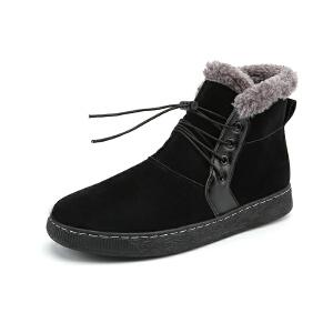 新款男鞋秋冬季加绒加棉保暖鞋子高帮鞋男士运动鞋休闲鞋棉靴短靴男