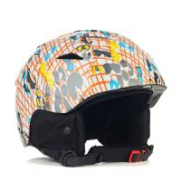 滑雪头盔男户外运动一体成型单双板通用送手套保暖女雪盔