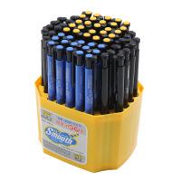 60支蓝色按动圆珠笔 原子笔学生办公油笔广告笔红笔黑色红色