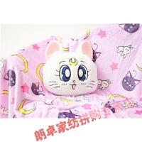 美少女战士抱枕毯子萌可爱卡通美少女战士露娜猫抱枕靠枕空调毯子 抱枕35厘米,毯子1*1.5米