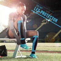 户外骑行压缩机能袜 男小腿跑步马拉松护腿 女士透气袜套运动护腿套