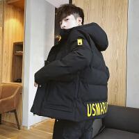 男士棉衣男保暖冬季新款韩版潮流修身帅气外套连帽加厚羽绒棉服冬DJS207