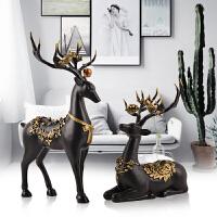 欧式鹿家居装饰品摆件创意客厅酒柜工艺品摆设送闺蜜实用结婚礼物