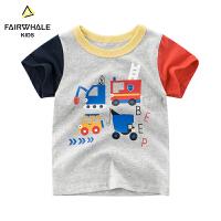 【2件3折折后到手价41.3】马克华菲童装男童短款T恤2019夏新款儿童纯棉韩版洋气上衣中大童