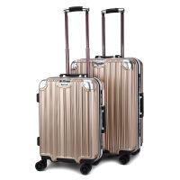 新款铝框拉杆箱万向轮登机箱密码旅行箱20/24硬箱防磨行李箱