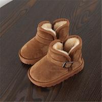 2018秋冬新款保暖雪地靴男童女童靴子时尚靴子学生靴儿童短靴韩版
