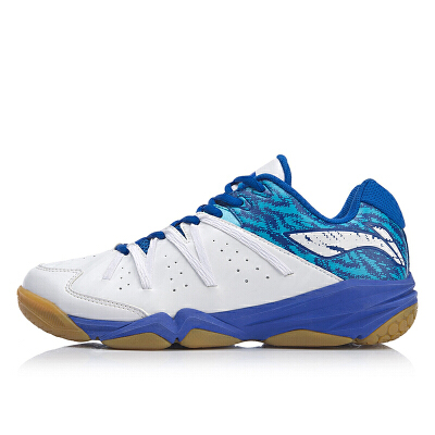 李宁(LI-NING)新款运动鞋男鞋耐磨减震防滑超轻透气抓地低帮羽毛球鞋AYTP017 包邮