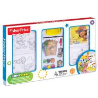Fisher Price费雪缤纷手绘画框白板DIY文具绘画套装学习画画礼盒