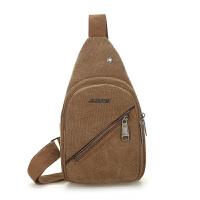 胸包男 帆布包 单肩斜挎包休闲小包包背包男士商务旅行包轻便潮包出差、手提包
