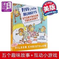 【中商原版】Five Little Monkeys Storybook Treasury 五只小猴子绘本5个故事合集