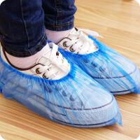 一次性鞋套100只装鞋套家用防尘耐磨透气防滑脚套一次性鞋套 塑料脚套耐磨防尘防水一次性鞋套