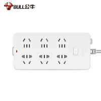 公牛电源插座 带儿童保护门电源接线板插排插线板插板GN-109K新国标 6插位