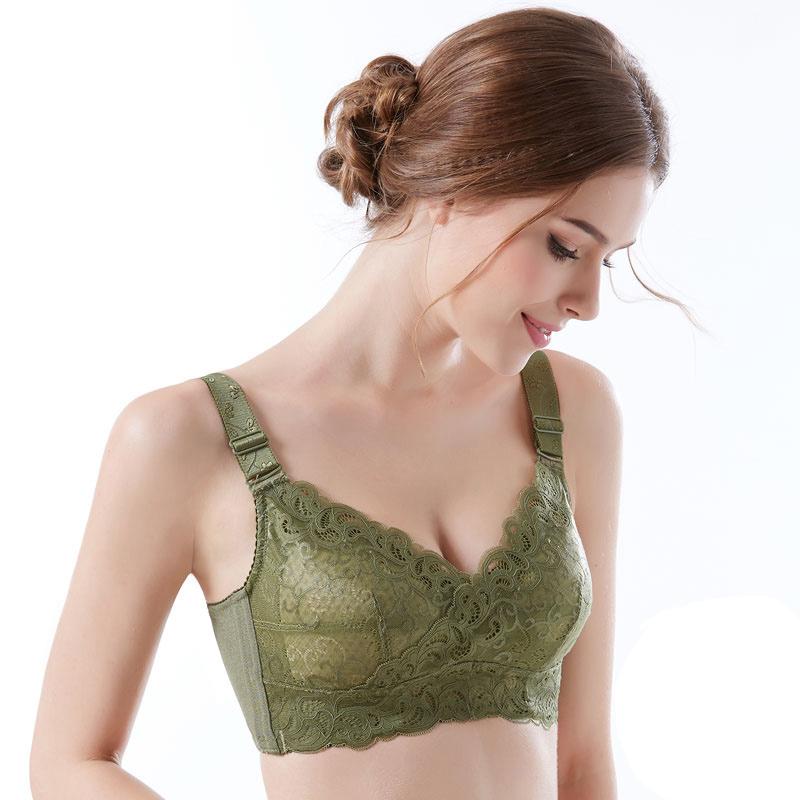 超薄款大胸显小全罩杯无钢圈女内衣缩胸大码收副乳文胸罩