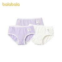 【2件6折:35.4】巴拉巴拉女童�妊�棉三角��和�短�中大童�����H�w柔�舒�m三�l�b