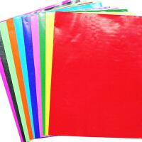 一口价10张/单色 DIY材料 50*70cm电光纸 单面蜡光纸 儿童手工折纸 剪纸*纸