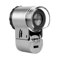 60倍放大镜带led灯高倍高清1000显微镜100迷小文玩珠宝鉴定便携式