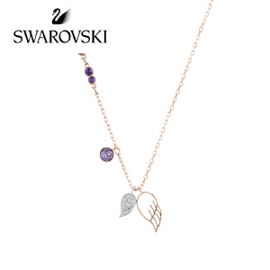 SWAROVSKI/施华洛世奇 情人节礼物 Duo 镀玫瑰金女士天使之翼翅膀项链 5171264