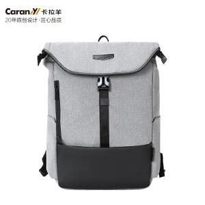 卡拉羊新款防盗包男士多功能双肩包 14商务电脑背包旅行休闲包CX5879