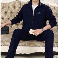 时尚休闲商务运动 商务休闲加肥加大码运动男装 中老年运动服套装男