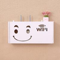 �o�路由器收�{盒壁��WiFi置物架��b�免打孔遮�跸�C�盒架子路由器盒��收�{盒 特
