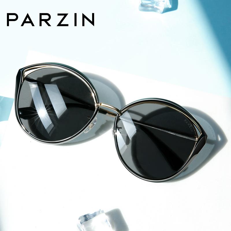 帕森偏光太阳镜 女士猫眼大框韩版潮流墨镜驾驶镜2019新品91608 镂空金属猫眼设计 时髦出镜