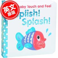 现货 英文原版 英文原版 DK Baby Touch and Feel: Splish!Splash! 宝宝触摸纸板书