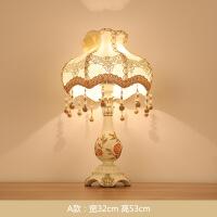 【家装节 夏季狂欢】欧式台灯卧室床头灯简约温馨客厅结婚创意浪漫婚房装饰家用可调光