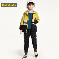 巴拉巴拉童装男童套装两件套秋装2019新款儿童衣服运动长袖长裤潮