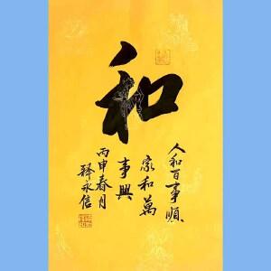 第九十十一十二届全国人大代表,少林寺方丈释永信(和)
