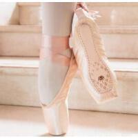 足尖鞋女舞蹈儿童绑带女童初学者练功复古专业成人显脚背芭蕾舞鞋