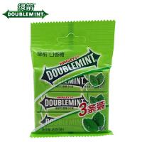 箭牌 绿箭口香糖 薄荷味 45g(15g×3条装)袋装 休闲糖果