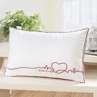 枕头单人助睡眠 家用情侣全棉护颈枕舒适整头枕芯 一对枕头芯 1只 48*74