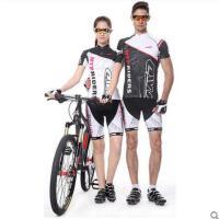 时尚炫酷舒适柔软骑行服短袖短裤套装 潮流个性男女薄款透气服装