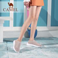 骆驼女鞋2019春季新款网面运动鞋女轻盈舒适百搭网红鞋平跟单鞋女
