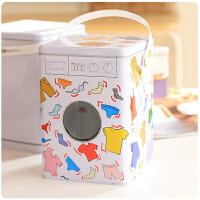 创意防锈洗衣粉桶手提收纳口铁皮大号零食密封罐米桶