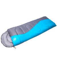 云博 户外睡袋 信封式成人四季睡袋户外野营睡袋 S型 竖型蓝色