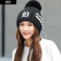 帽子女冬季韩版针织毛线帽休闲百搭堆堆帽女潮韩版时尚秋冬可爱