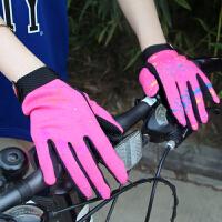 女士触摸屏自行车手套运动户外保暖秋冬季骑行手套