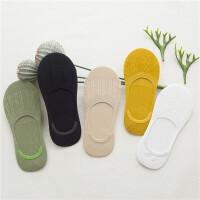 5双装夏季船袜女竹纤维浅口女袜防滑硅胶纯棉隐形袜短袜豆豆袜子 均码