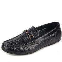 DAZED CONFUSED 夏季新款英伦鳄鱼纹豆豆鞋男鞋软皮日常休闲鞋透气潮流