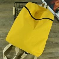 花曦原创吃货零食背包女韩国帆布双肩包少女逛街迷你小包简约背包