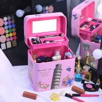 少女心化妆包小号便携韩国可爱大容量化妆品收纳包大号化妆箱手提