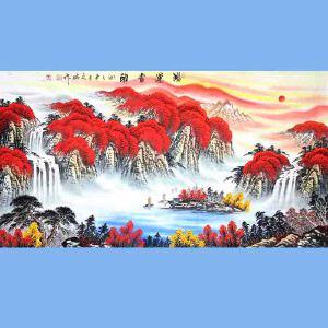 中国青年美术家协会常务理事,中国山水画院专业画家,国家一级美术师高云鹏(鸿运当头)7