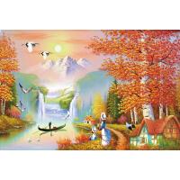 1000片木质拼图500托马斯唯美手绘油画秋天 风景如画