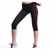 速干瑜伽健身裤 田径训练短裤 跑步紧身裤 女运动七分裤