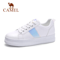 骆驼新款小白鞋女厚底增高平底百搭韩版学生休闲女鞋子