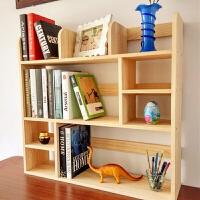 实木桌上书架置物架学生小书架创意桌面书架多层收纳架书柜飘窗架