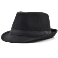 爵士帽礼帽男户外休闲英伦复古绅士帽中老年毛呢帽