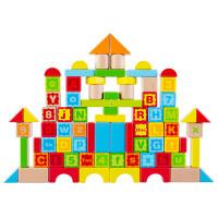 婴儿大颗粒 积木玩具 1-2周岁 桶装木质积木木制玩具